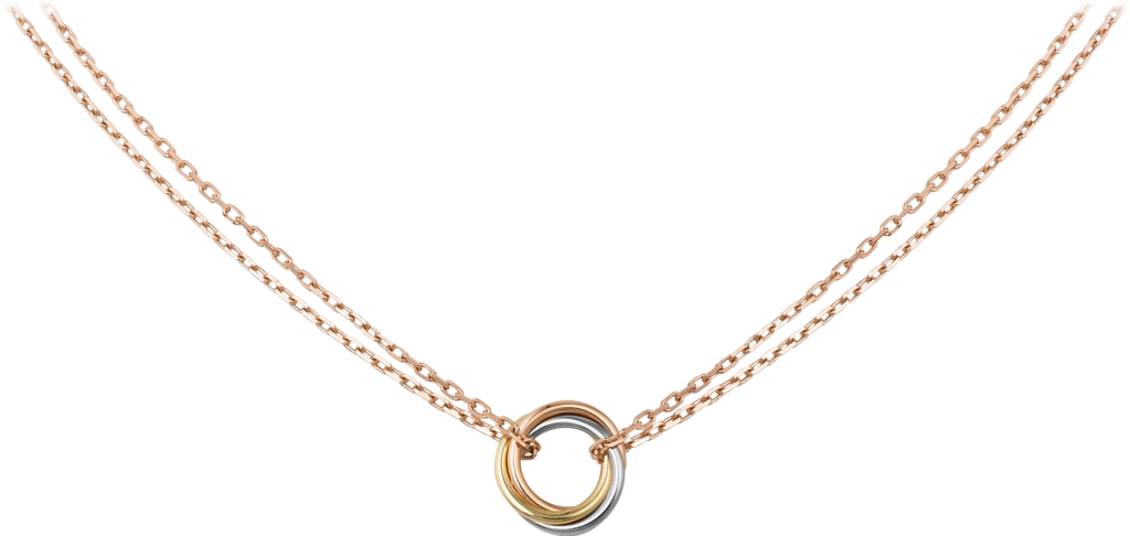Trinity necklaceWhite gold, yellow gold, rose gold