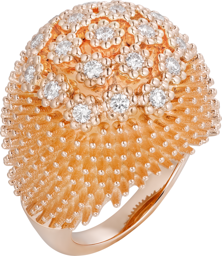 Cactus de Cartier ringRose gold, diamonds