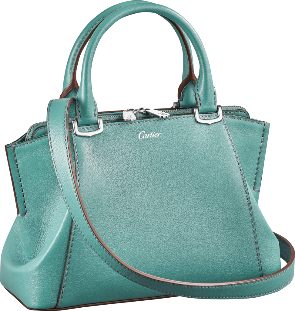 C de Cartier bag, mini modelGreen beryl-coloured taurillon leather, palladium finish