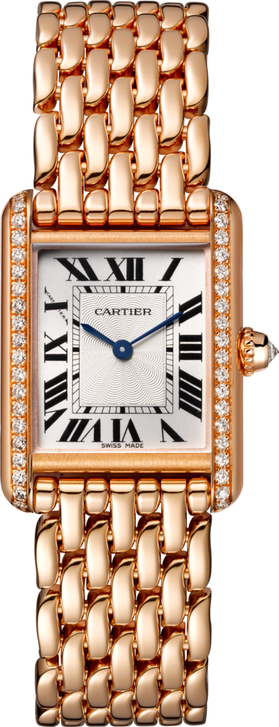 Tank Louis Cartier watchSmall model, rose gold, diamonds