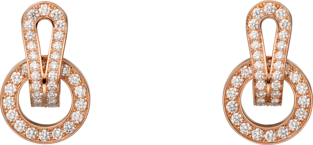 Agrafe earringsRose gold, diamonds
