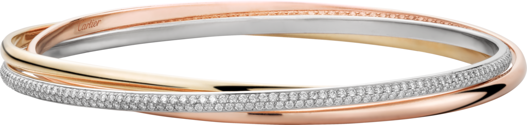 Trinity braceletWhite gold, yellow gold, rose gold, diamonds