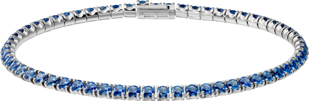 Essential Lines braceletWhite gold, sapphires