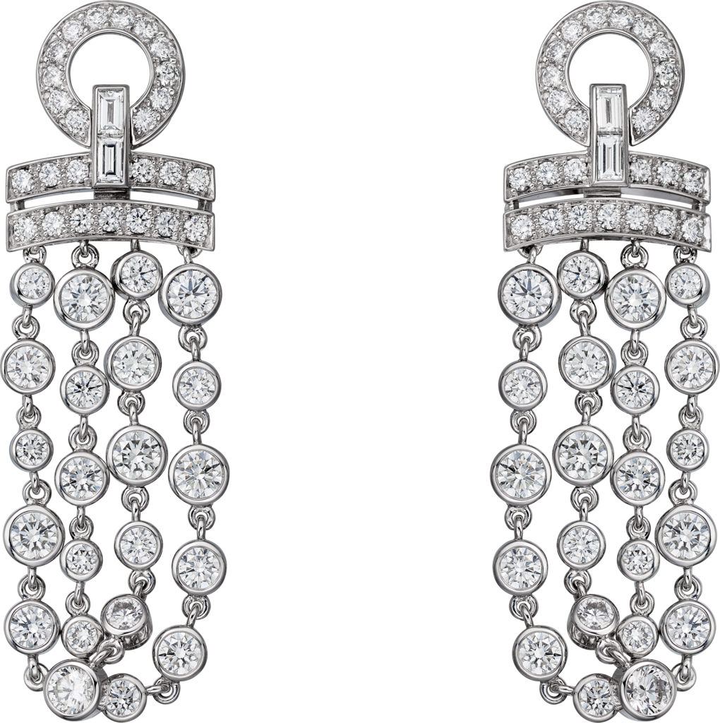 Pluie de Cartier earringsWhite gold, diamonds