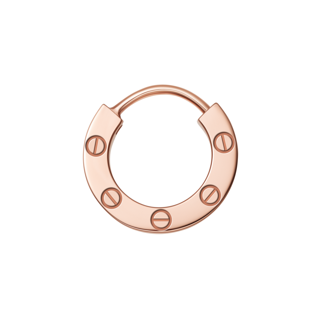 Love single earringRose gold