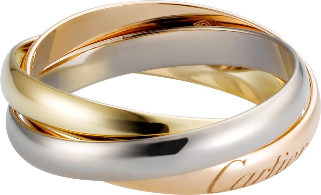 Trinity ring, small modelWhite gold, yellow gold, rose gold