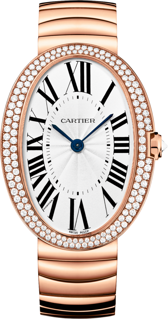 Baignoire watch, large modelLarge model, rose gold, diamonds