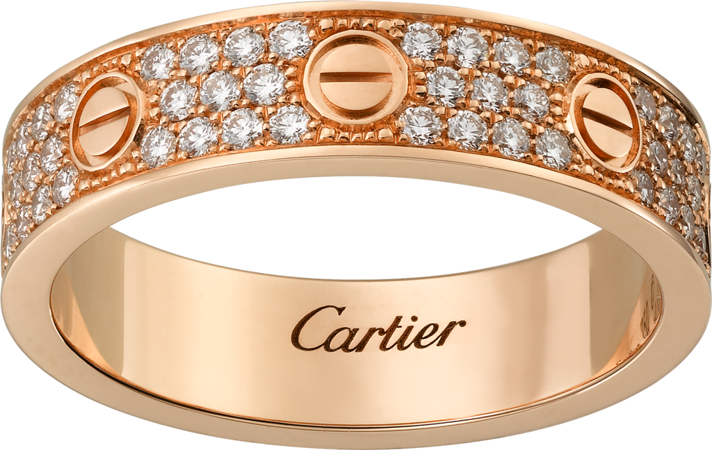 Love wedding band, diamond-pavedRose gold, diamonds