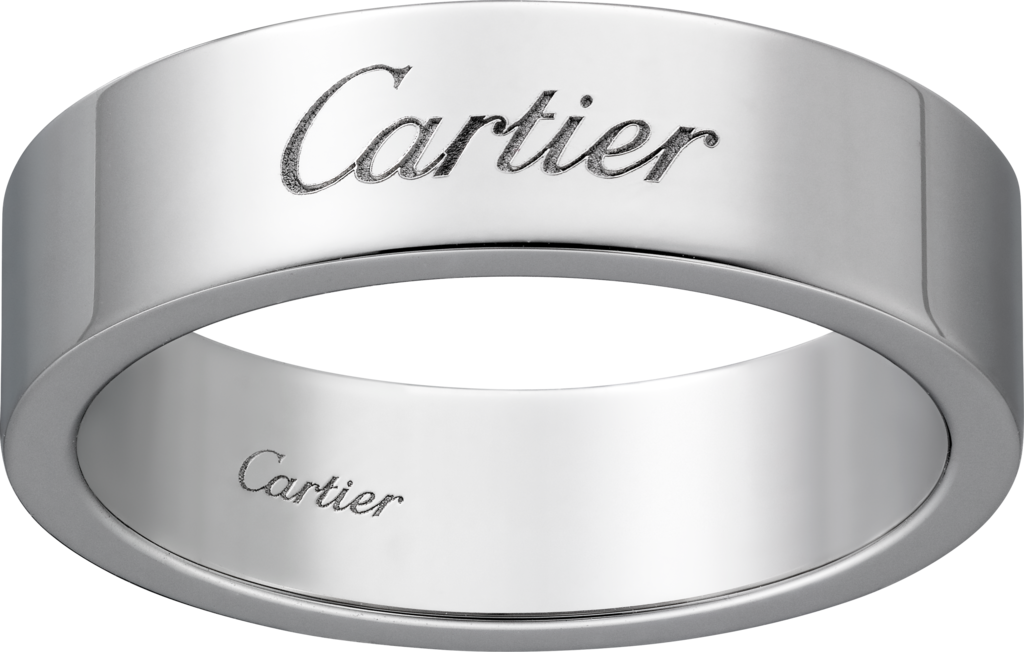 C de Cartier wedding ringPlatinum