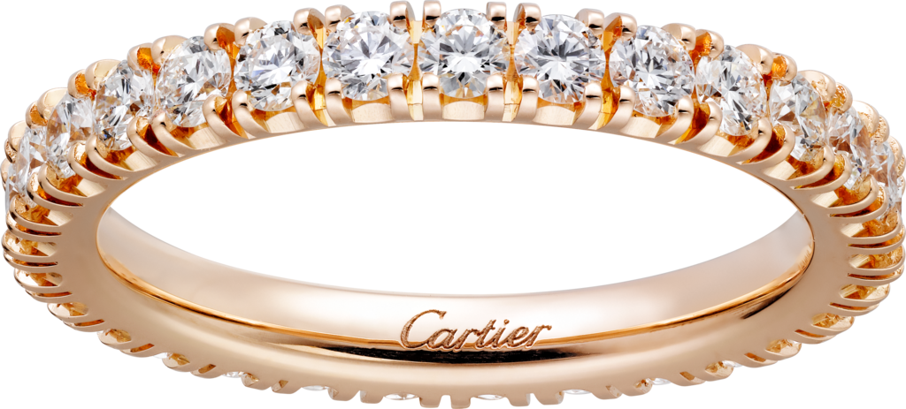 Cartier Destinée wedding ringRose gold, diamonds