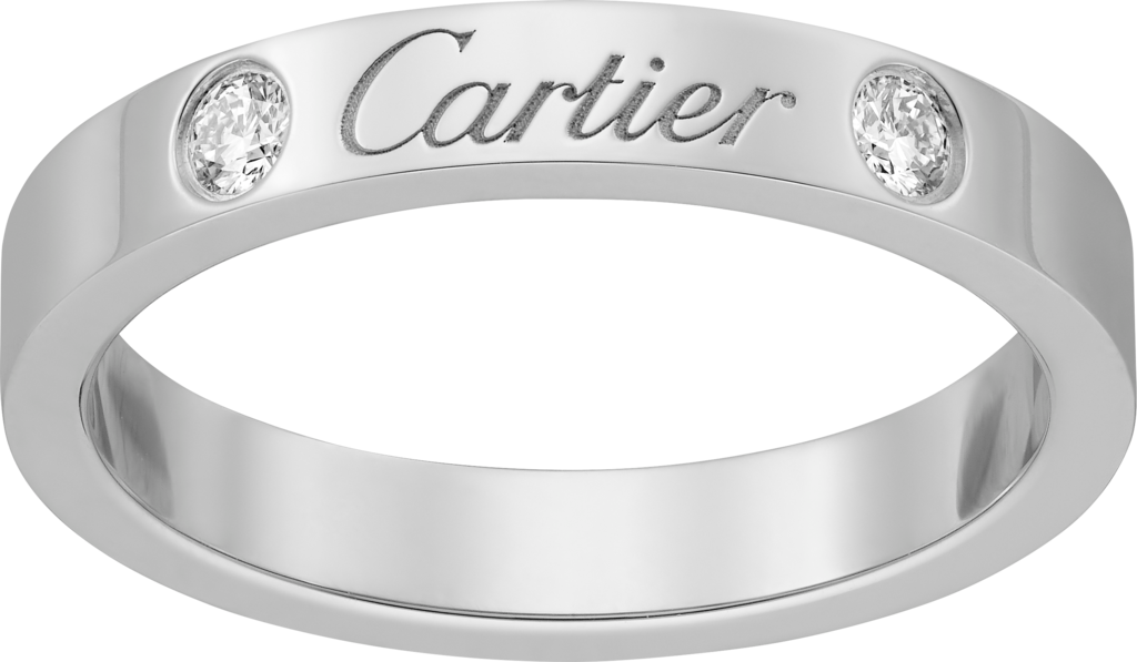 C de Cartier wedding ringPlatinum, diamonds